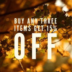 BUNDLE ANY 3 ITEMS GET 15% OFF